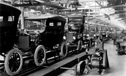 Assemblage van de Ford Model T